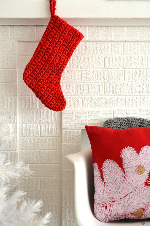 DIY Crochet Christmas Stocking
