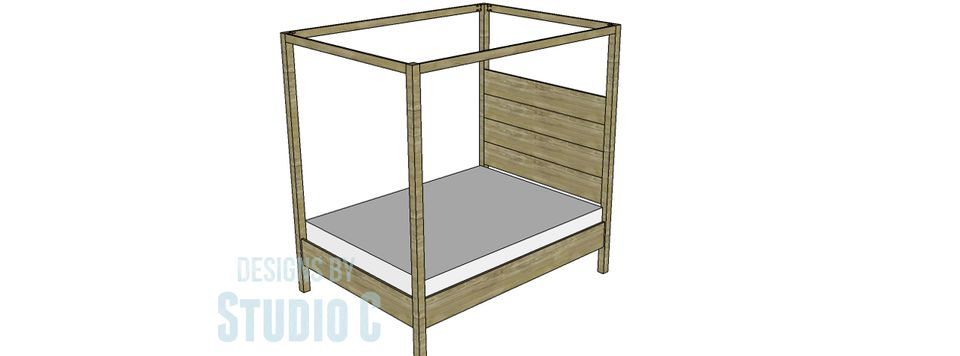 diy queen canopy bed frame - Easy Homemade Furniture Plans
