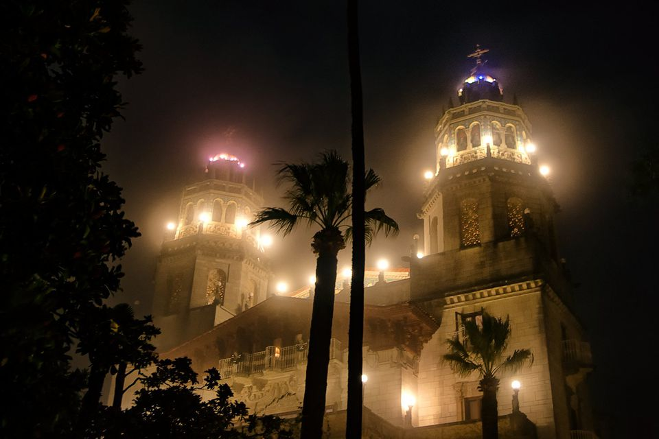 Hearst Castle at Night