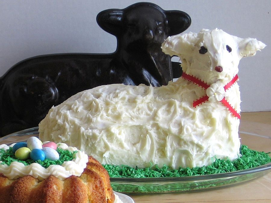 lamb cake mold traditional easter shaped pound cake recipe 5389