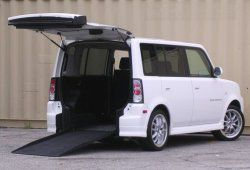 Scion-Braun xB Rampvan with ramp deployed