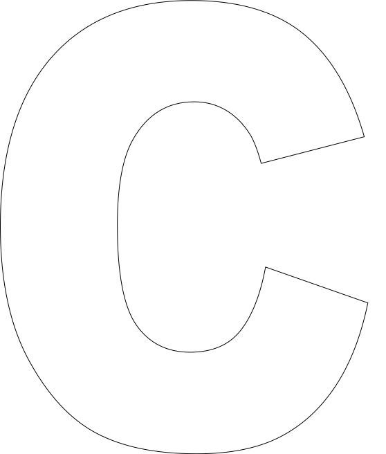 Effortless image with regard to letter c printable template