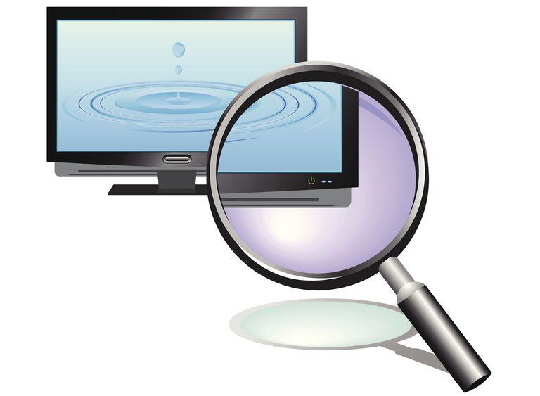 Inspecting TV Screen