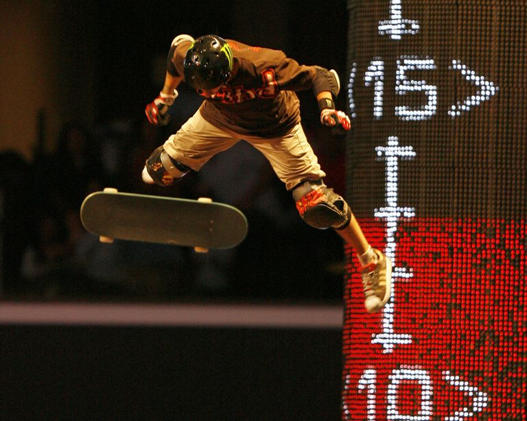 Jake Brown Skateboarding in the Big Air competition at X Games 13