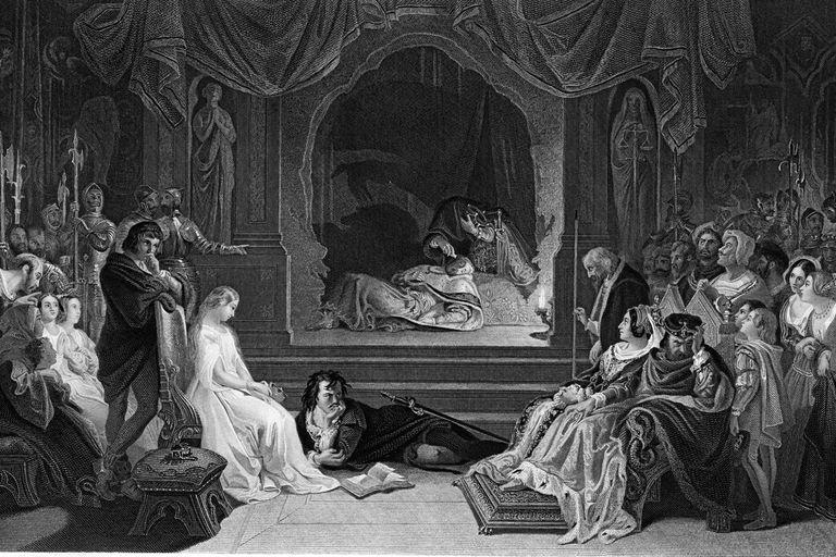 Hamlet Stages Play In 'Hamlet' Scene