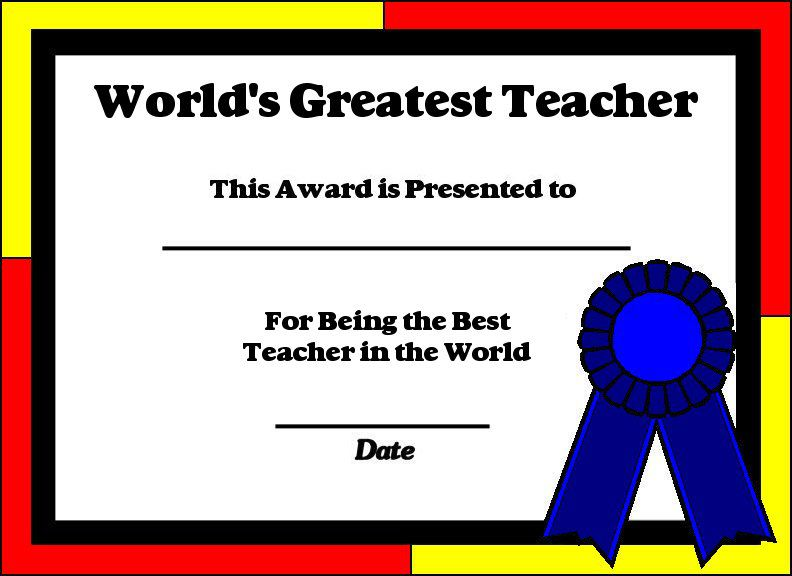 teacher certificate templates