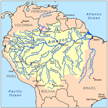 Orinoco River System In South America - Longest river in the us map