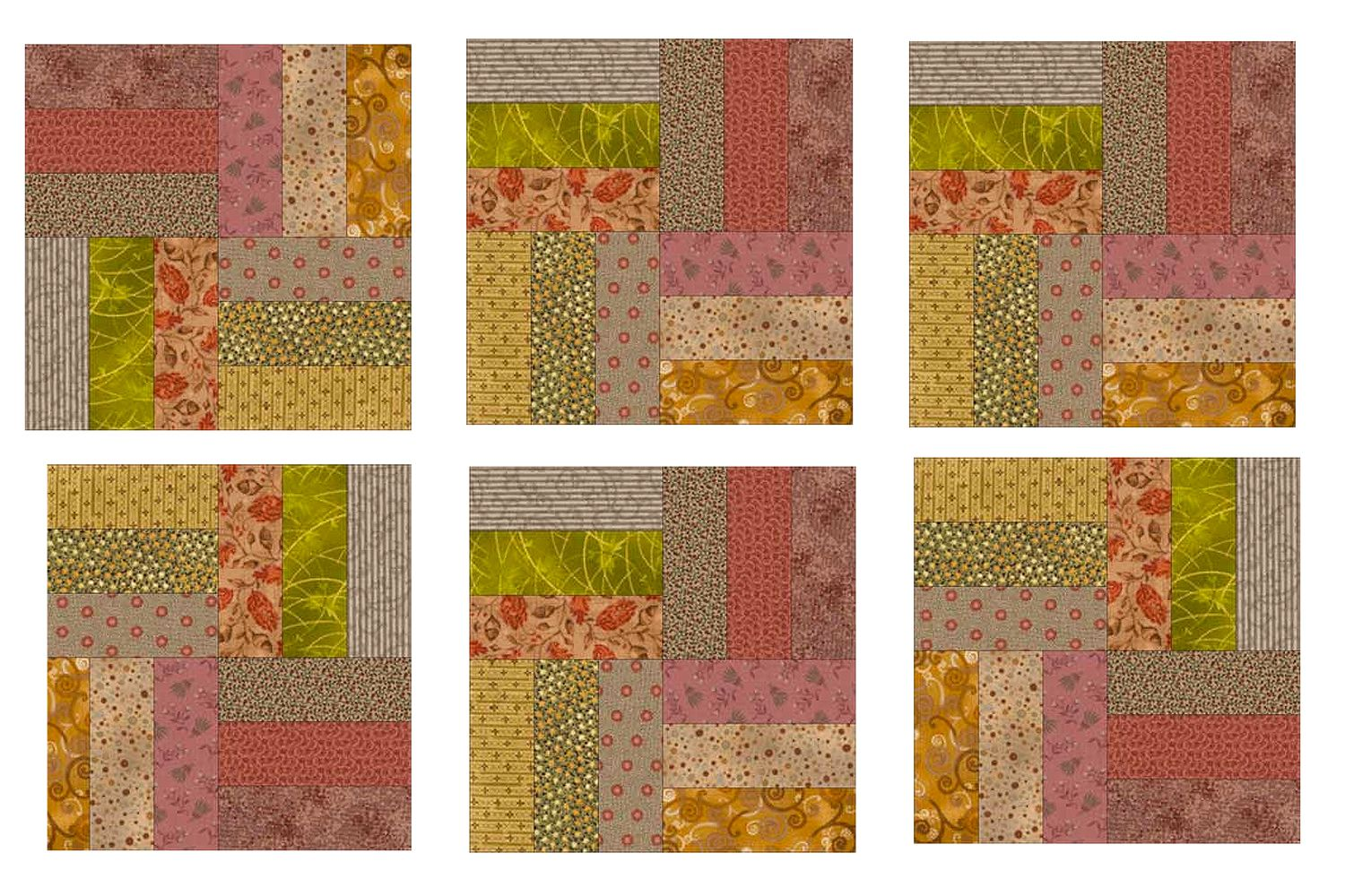 Easy Roman Square Quilt And Quilt Block Pattern