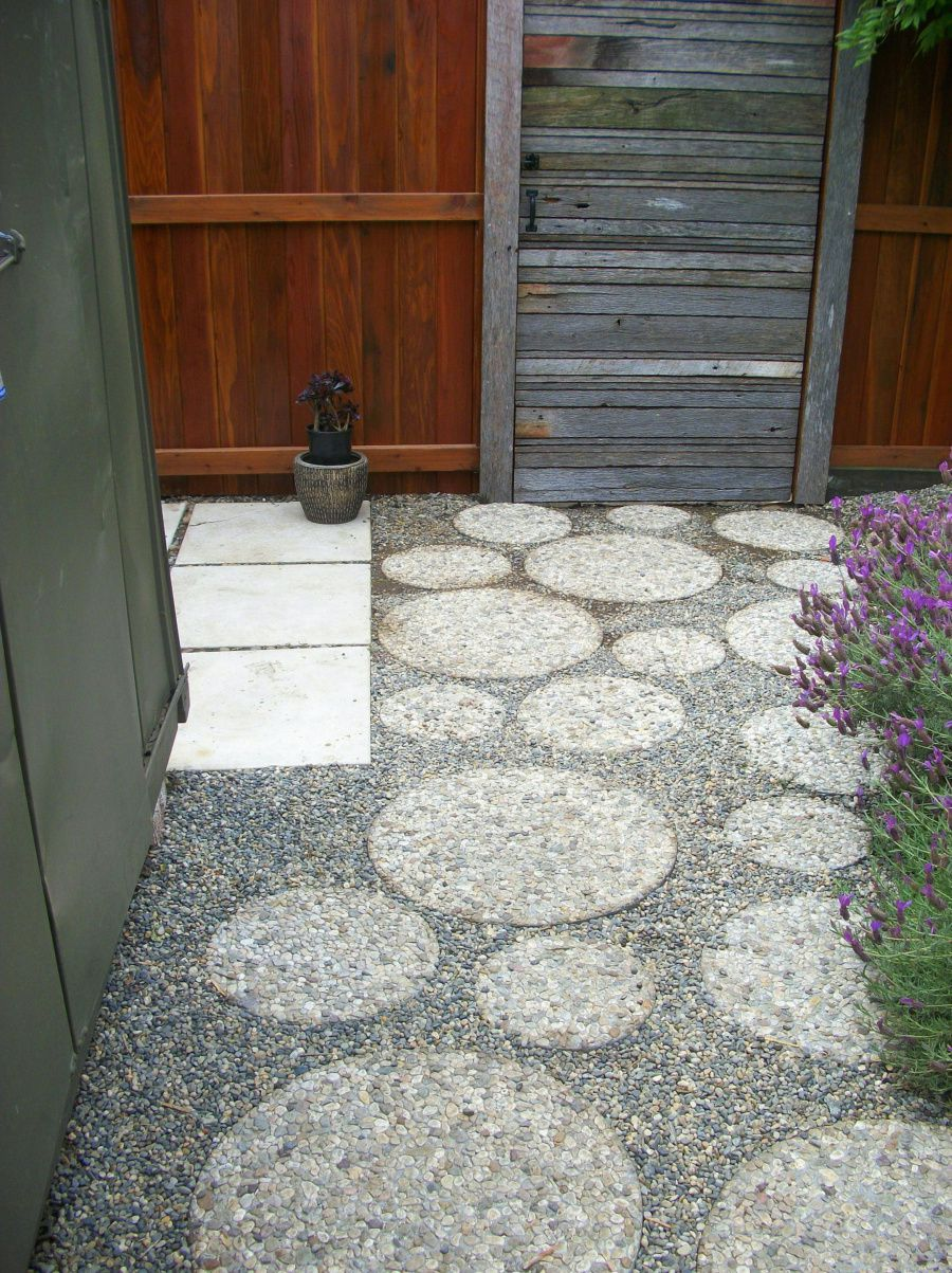 pavers patio gravel