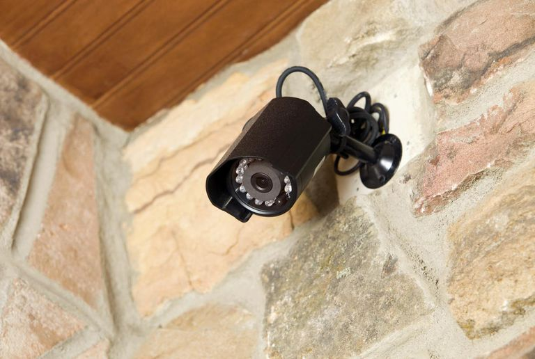 Home entry security camera