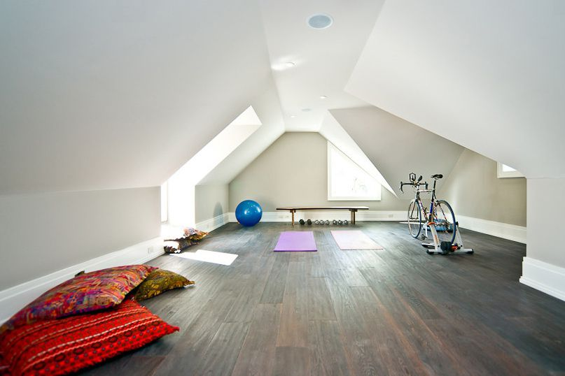 gym in home attic