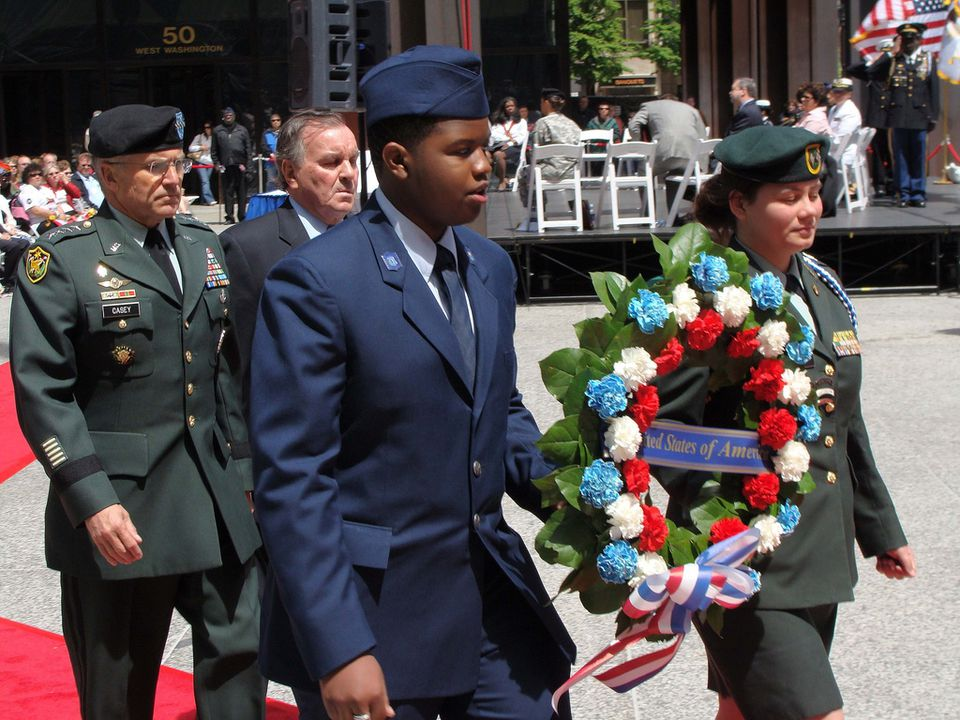 Memorial Day observance in Chicago, Illinois