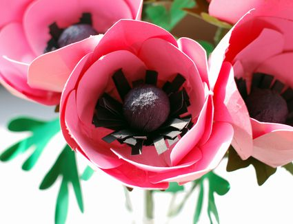 27 fun and easy to make paper flower projects you can make how to make paper anemone flowers mightylinksfo Choice Image