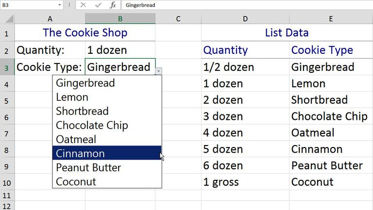 how to add in drop down menu in excel