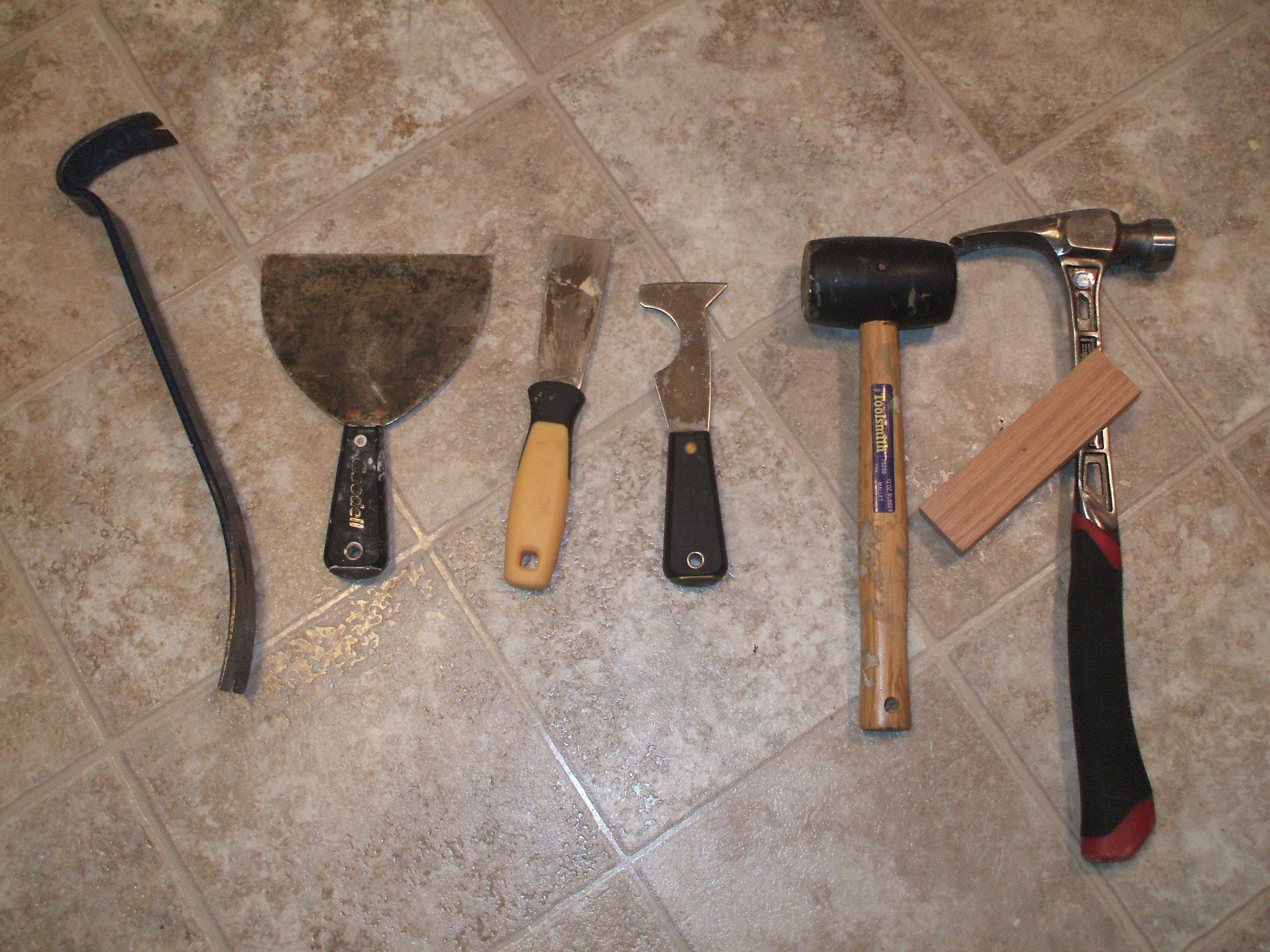 Tools you will need to remove vinyl floor for How to remove plastic floor tiles