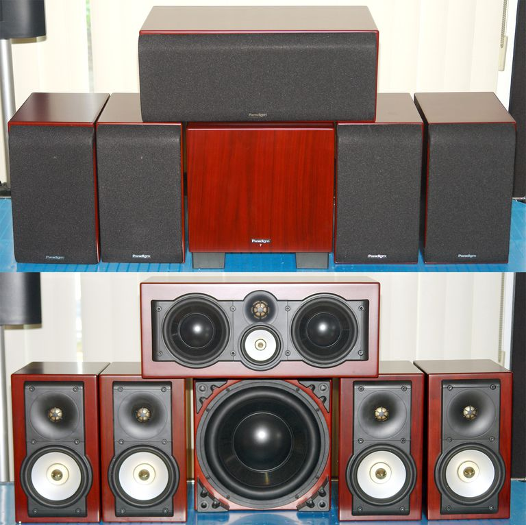 Paradigm SE Series Speaker System - Front View Grills On and Off