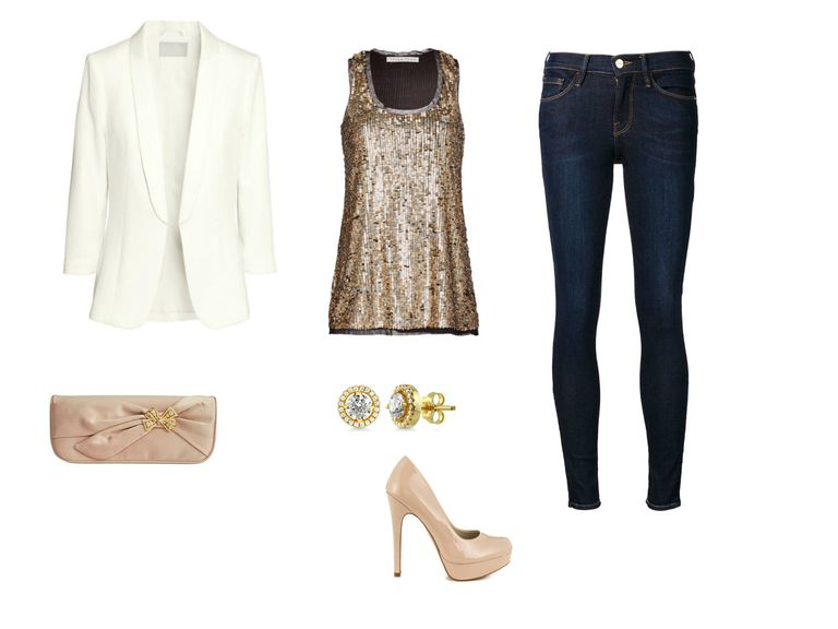 How to Dress Up Jeans for All Your Holiday Parties