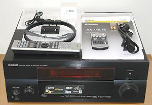 Yamaha RX-V3900 Home Theater Receiver - Front View with Accessories