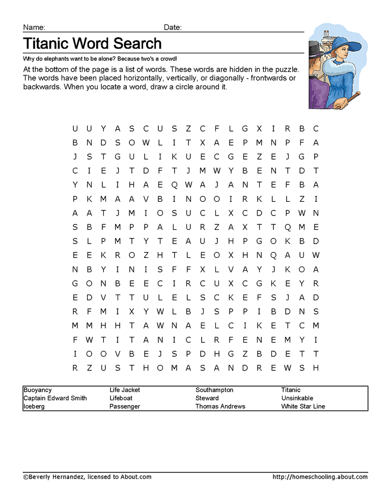 printable titanic wordsearch - Titanic Coloring Pages Printable