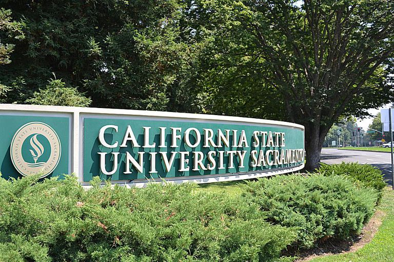 Sacramento State University Sign