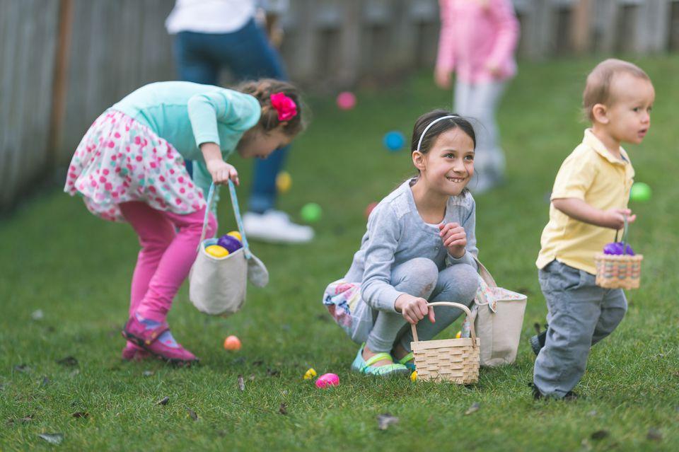 Kids at Easter Egg Hunt