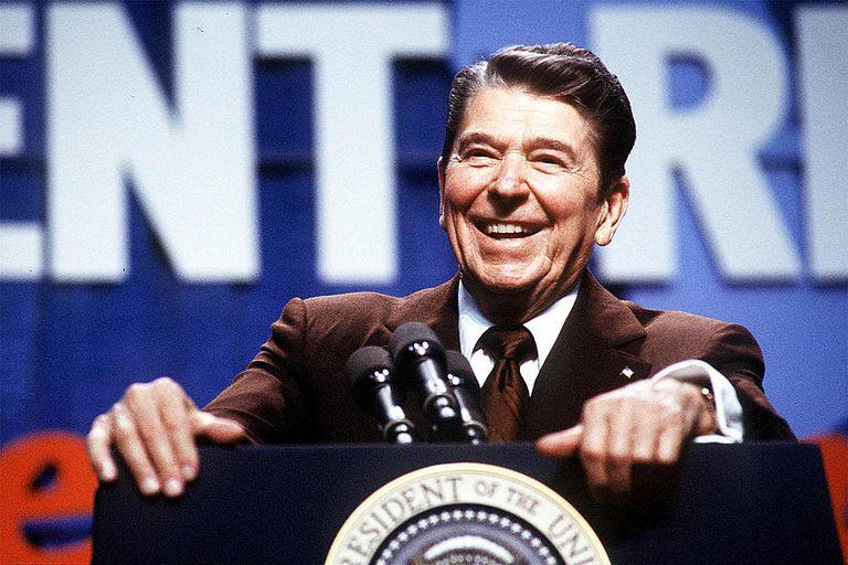 Ronald Reagan Gives A Speech In Washington Photo: Dirck Hal