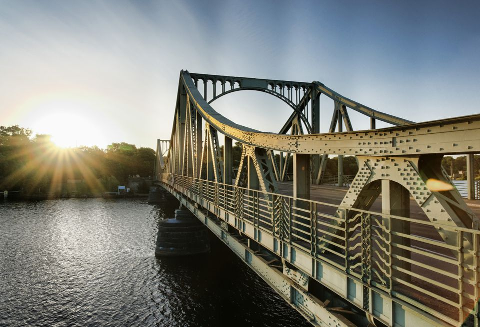Glienicke Bridge, Havel, between Potsdam and Berlin, Brandenburg, Germany