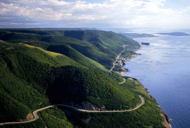 Aerial view of Cabot Trail.