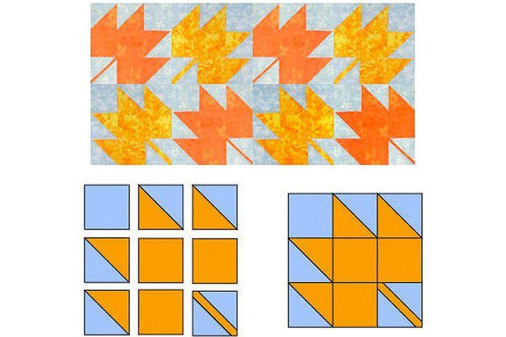 Easy Maple Leaf Quilt Block Pattern : maple leaf quilt block - Adamdwight.com