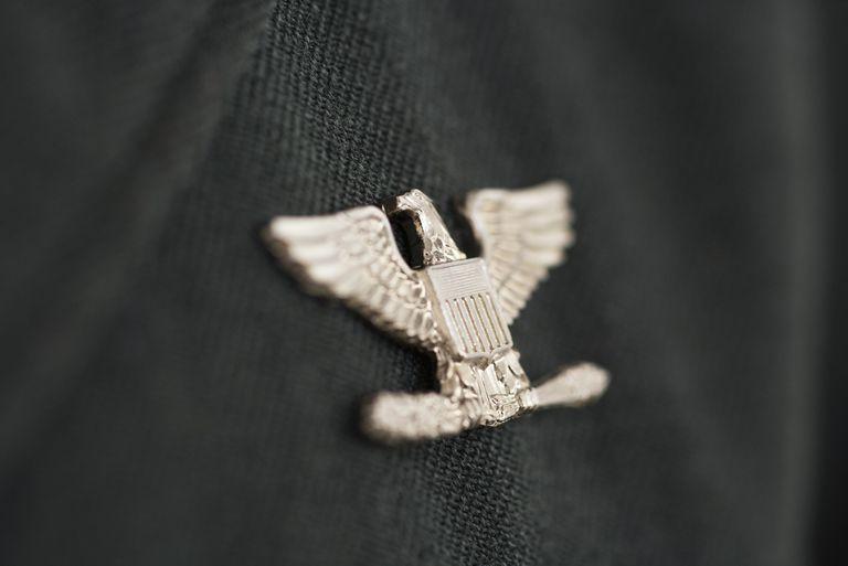 Colonel insignia, eagle military pin