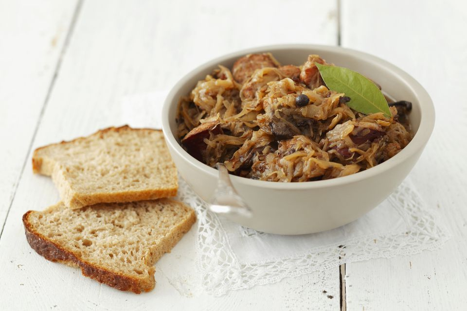Bigos (sauerkraut with sausage and bacon, Poland)