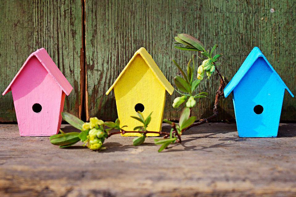 Simple Pastel Birdhouses