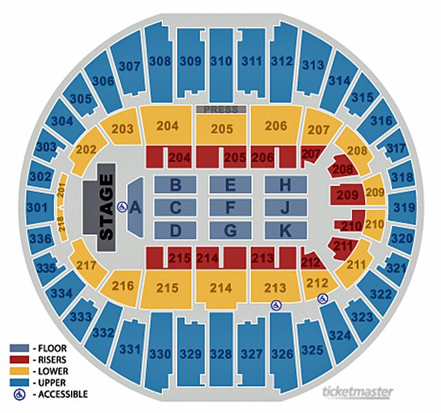 Seating Chart for Arizona Veterans Memorial Coliseum