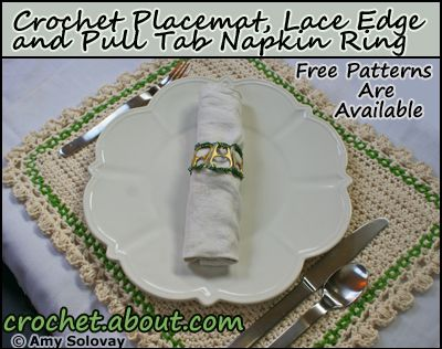 Place Setting With Crochet Placemat and Napkin Ring