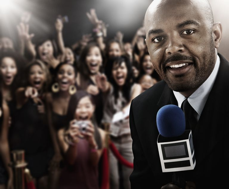 African broadcaster at red carpet event
