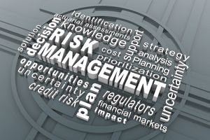 "word cloud with the words ""risk management"" emphasized"