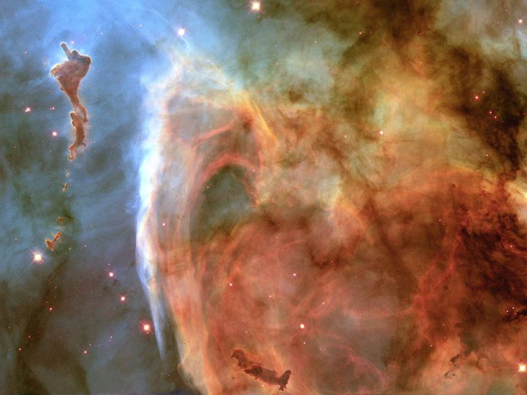 Image of the Week for Light and Shadow in the Carina Nebula