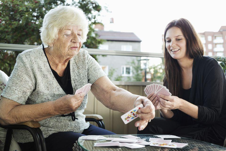 playing rummy with grandma