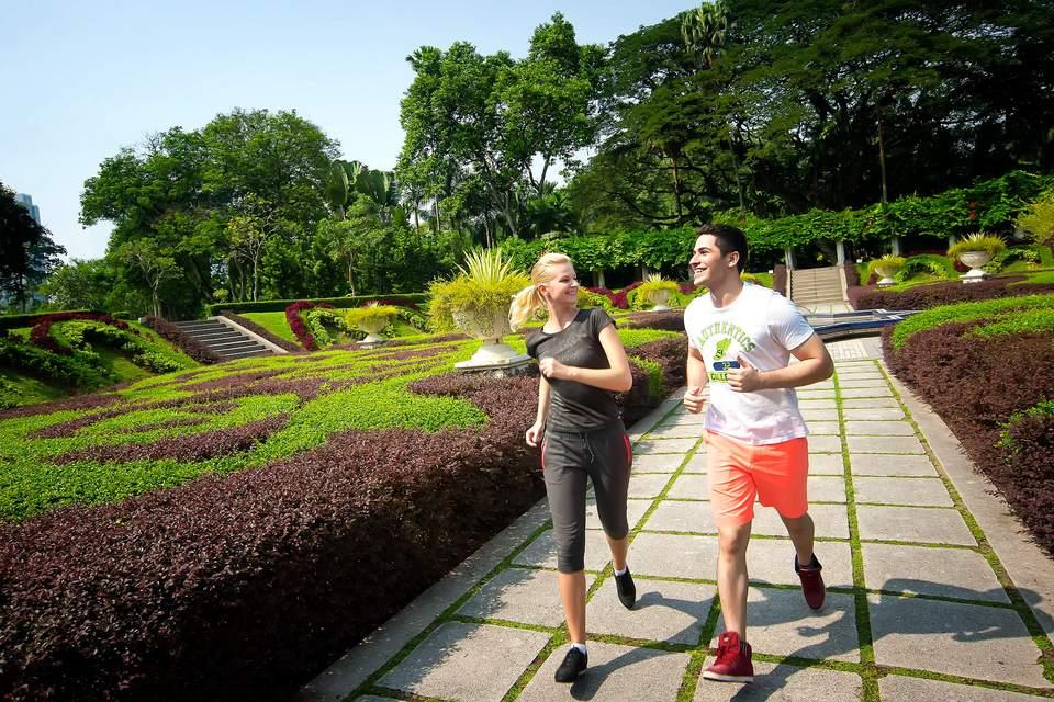 Joggers in the Perdana Botanical Gardens, Kuala Lumpur