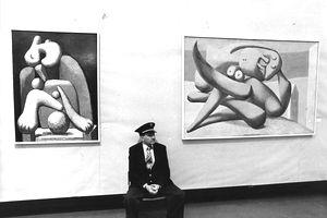 art museum attendant