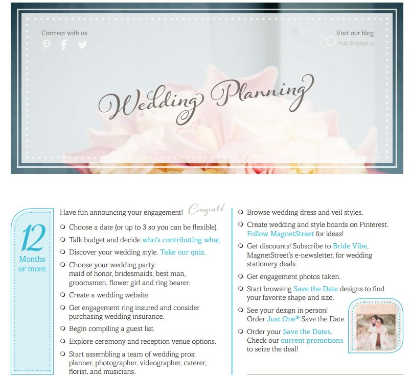 11 Free, Printable Checklists For Your Wedding Timeline