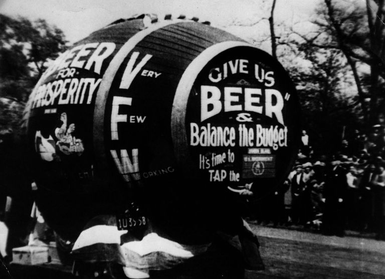 Beer Barrel protesting Prohibition