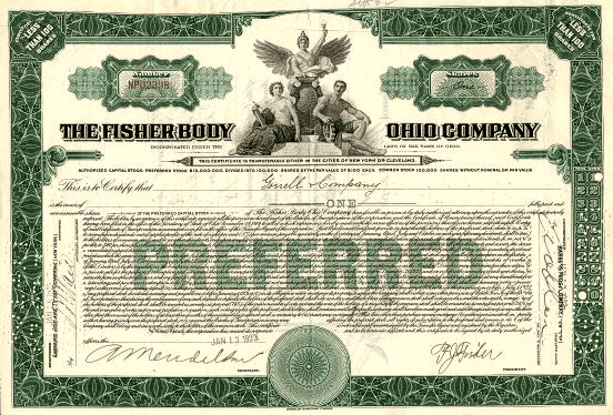Preferred Stock Certificate