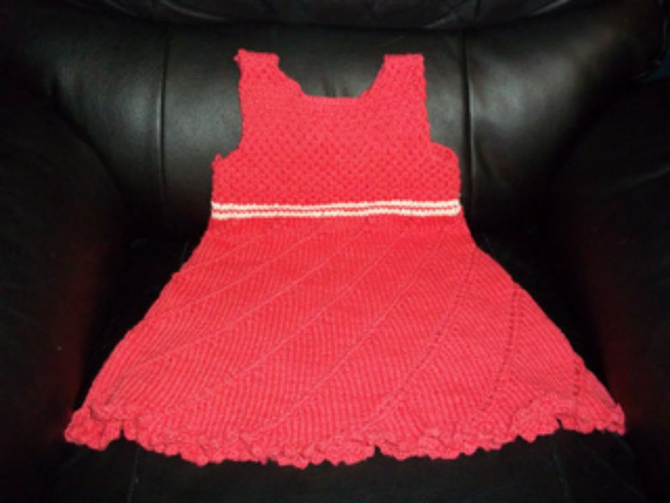 Red girls' sundress