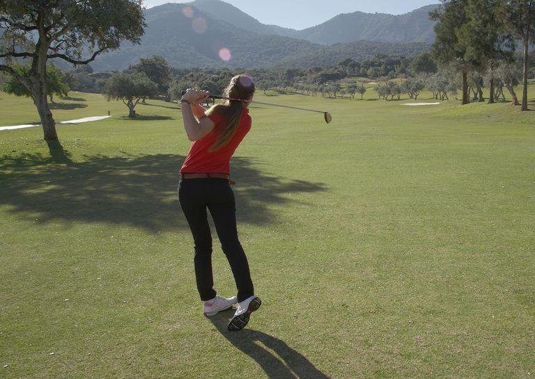 bogey golfer hitting tee shot