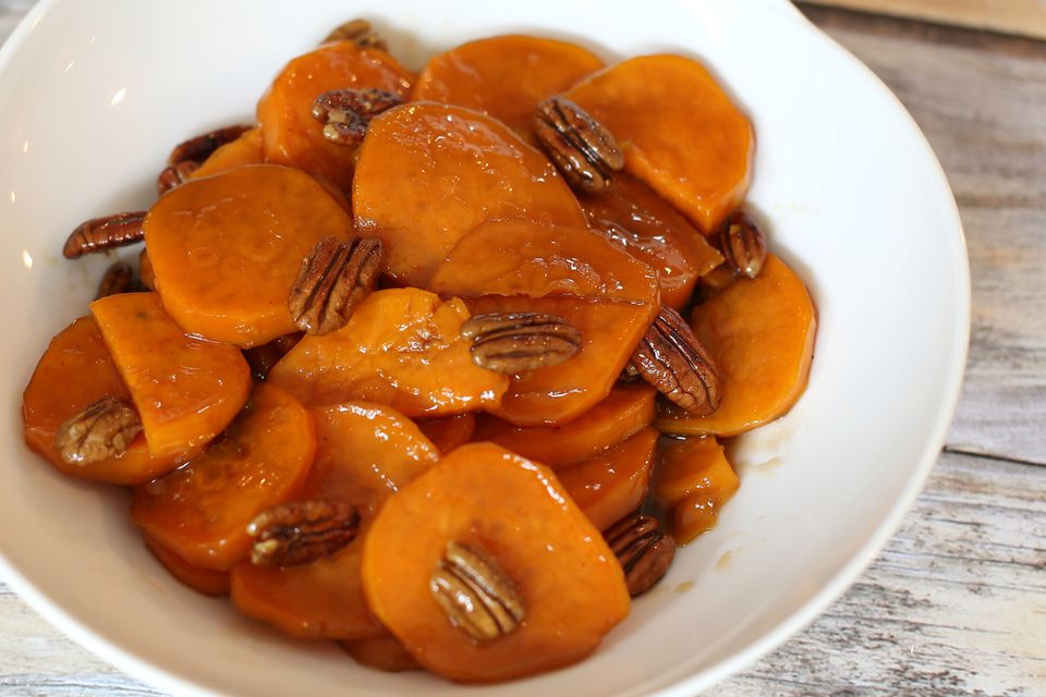 Candied Sweet Potatoes with Toasted Pecans