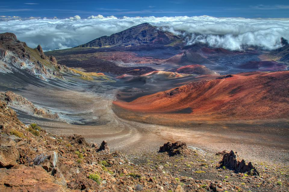 Haleakala Volcano Crater on the island of Maui, Hawaii