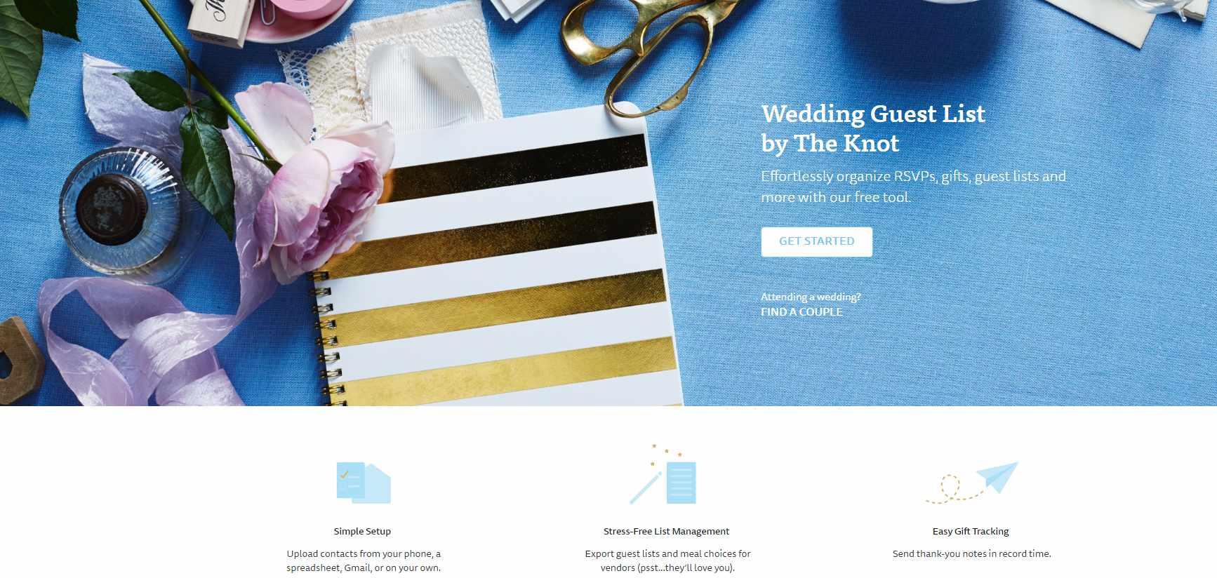 wedding list spreadsheet