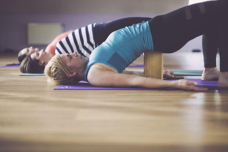 Women exercising in studio