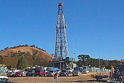 SAFOD rig, August 2004